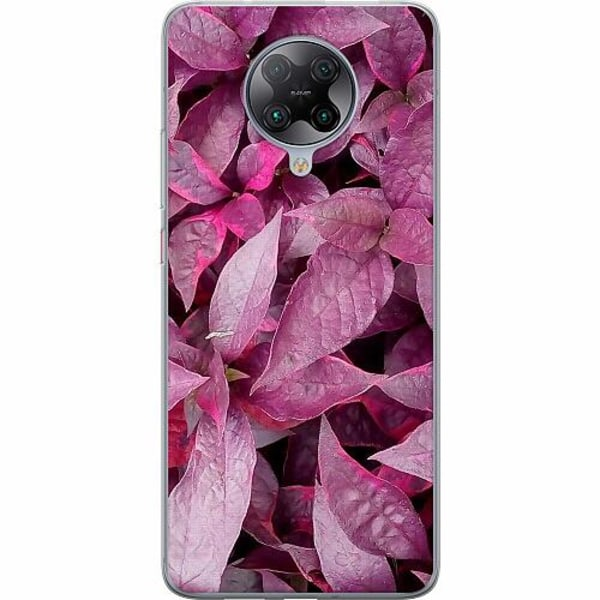 Xiaomi Poco F2 Pro TPU Mobilskal Pink Shrubs