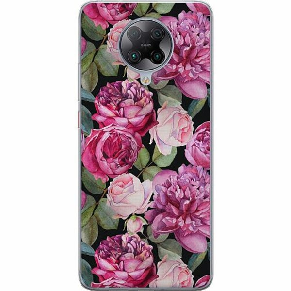 Xiaomi Poco F2 Pro TPU Mobilskal Purple Florals