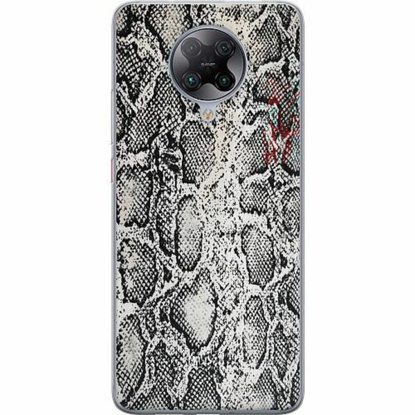 Xiaomi Poco F2 Pro TPU Mobilskal Snake on Grey