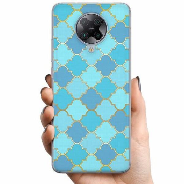Xiaomi Poco F2 Pro TPU Mobilskal Teal Mosaic