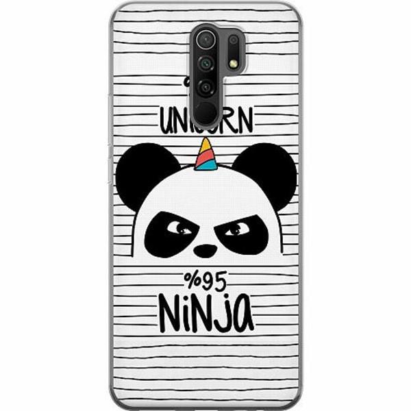 Xiaomi Redmi 9 Mjukt skal - Ninja Panda With A Twist