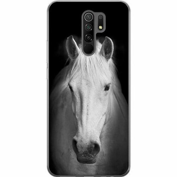 Xiaomi Redmi 9 Mjukt skal - Vit Häst