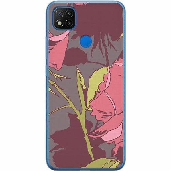 Xiaomi Redmi 9C Mjukt skal - Colour Me Roses