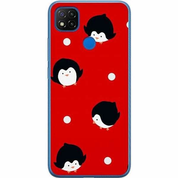 Xiaomi Redmi 9C Mjukt skal - Penguins On Christmas Eve