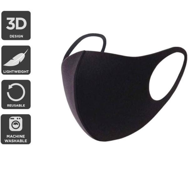 10-Pack Tvättbara Ansiktsmasker / Andningsskydd Tyg