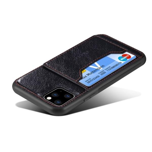 Dibase iPhone 11 Pro skal med korthållare och stöd Brun