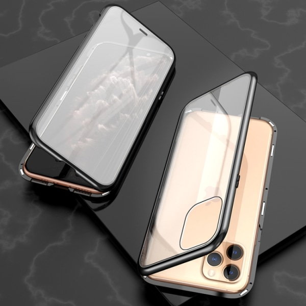 iPhone 11 Pro Max Skal Magnetiskt i Härdat glas Svart
