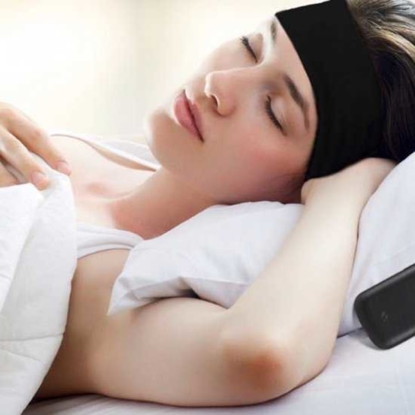 Sovhörlurar Bluetooth Pannband svart one size