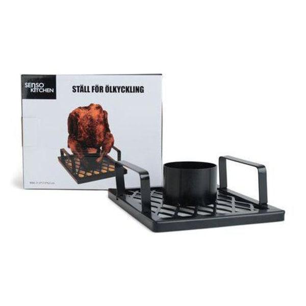 No1 BBQ Kycklinghållare Ställ för Ölkyckling  Black
