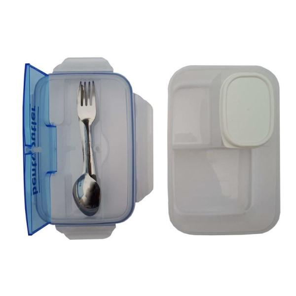 No1 Bento Box Matlåda Lunchlåda med bestick i rostfritt stål
