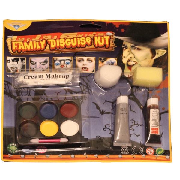 smink kit till halloween, mega färg kit x 10