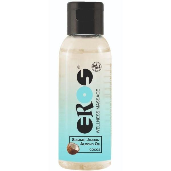 Eros Wellness Cocos Massage Oil 50ml Massageolja Kokosnötarom Transparent one size