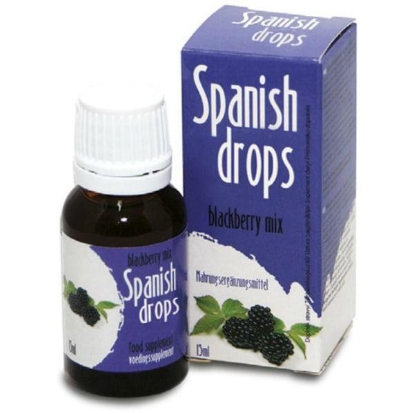 Cobeco Spanish Drops Blackberry Mix 15ml Lusthöjande Droppar Mörkblå one size