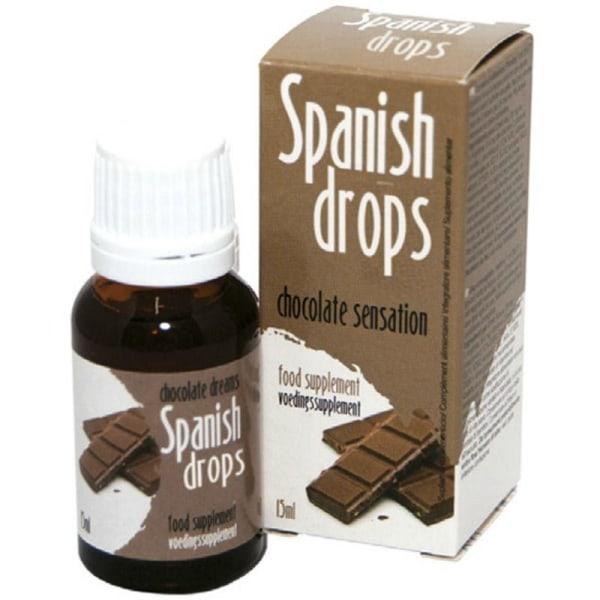 Cobeco Spanish Drops Chocolate Sense 15ml Lusthöjande Droppar Brun one size