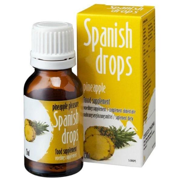 Cobeco Spanish Drops Pineapple Pleasure 15ml Lusthöjande Droppar Gul one size