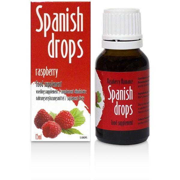 Cobeco Spanish Drops Raspberry Romance 15ml Lusthöjande Droppar Röd one size