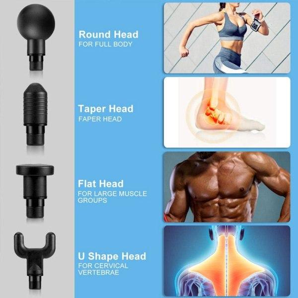 Massagepistol ActiveGun - Svart Svart