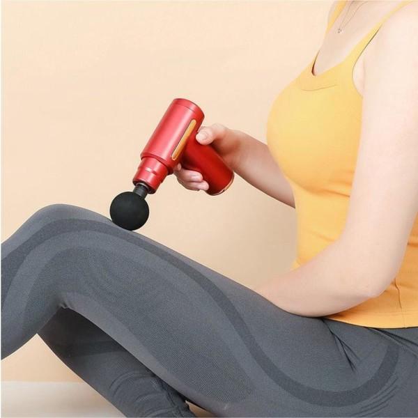 Massagepistol Power Mini Massage Gun - Röd