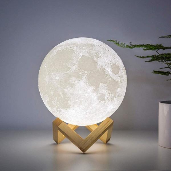 Nattlampa Fullmåne 3D multifärg
