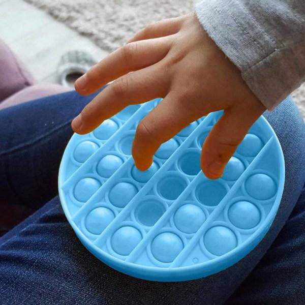 Pop It Fidget Bubble Circle - Blå