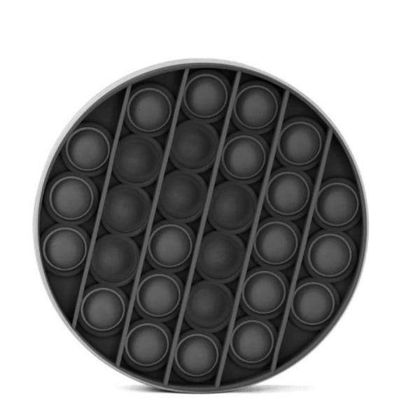 Pop It Fidget Bubble Circle - Svart