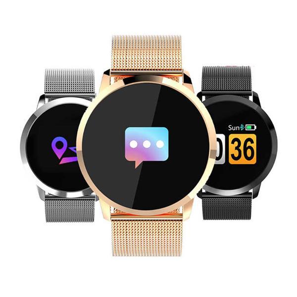 Q8 SmartWatch för Android & iOS - Guld Guld