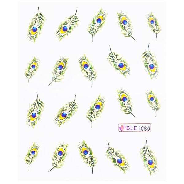 11st ark vatten stickers fjädrar nageldekorationer