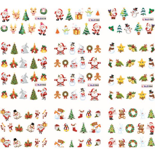 11st ark vatten stickers juldekorationer nageldekorationer