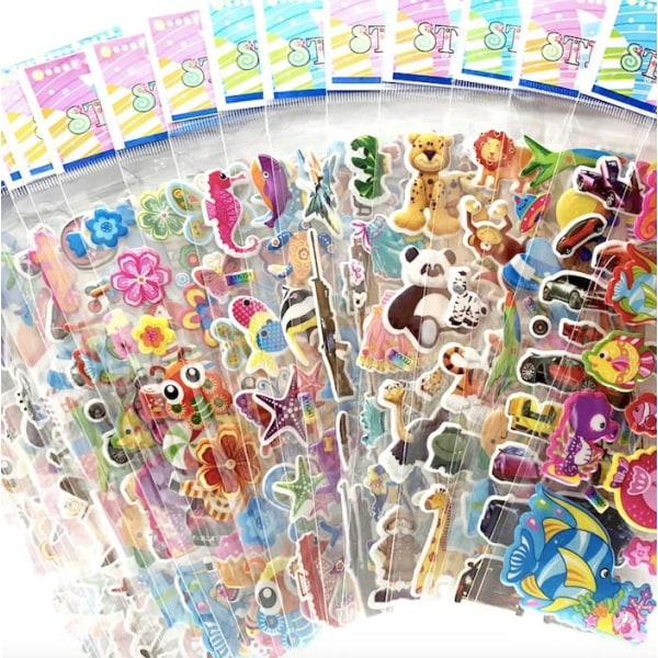 12st ark stickers klistermärken - djurmotiv multifärg