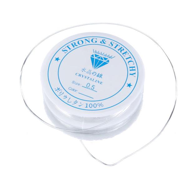 2-pack Transparent elastisk tråd för smyckestillverkning 0,6mm