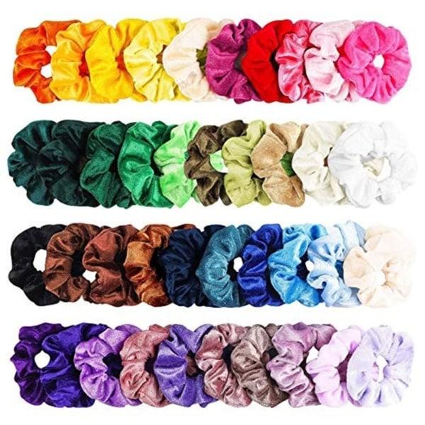 36st Velvet hair Scrunchies, hårsnoddar , hårband , Hair bands  multifärg