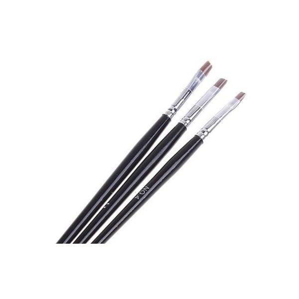 3st Akryl/UV Penslar naglar  Svart
