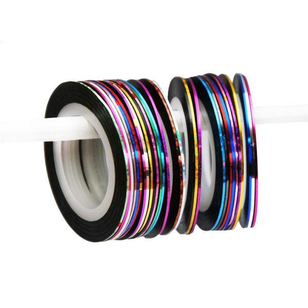 Striping tape , nageltejp , nageldekorationer - 5pack