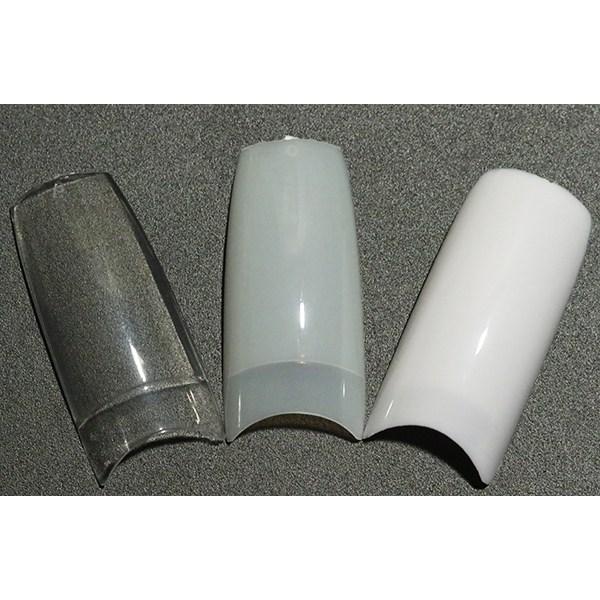 500st nageltippar tippar lösnaglar akryl nageltips  Transparent