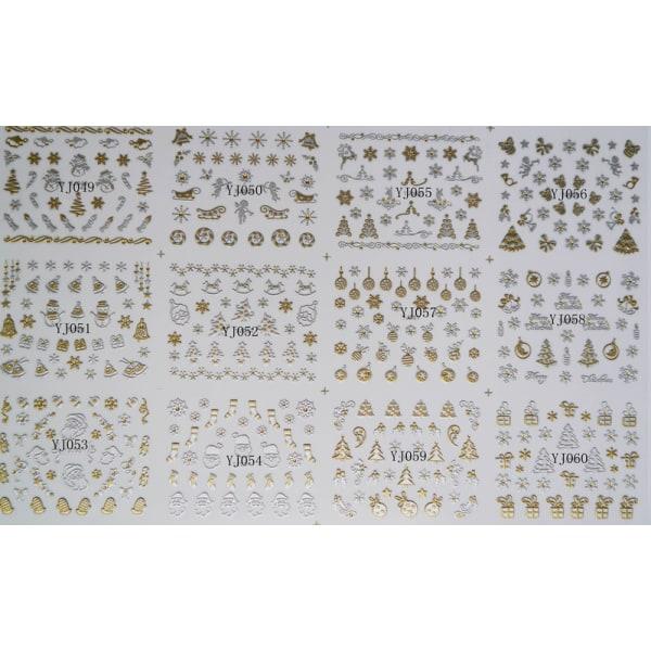 6st ark juldekorationer nageldekorationer nail art