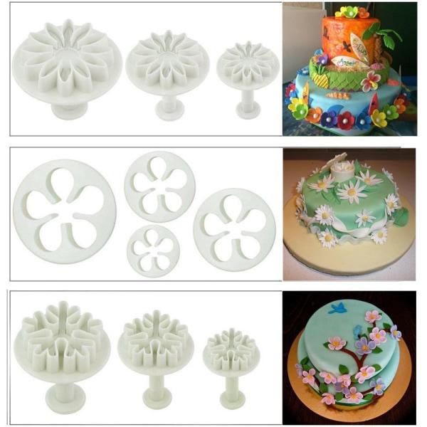 94st verktyg för tårtbakning / bakredskap / modderingsverktyg multifärg
