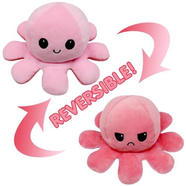 Dubbelsidig vändbar bläckfisk plyschleksaker, Reversible Octopus multifärg