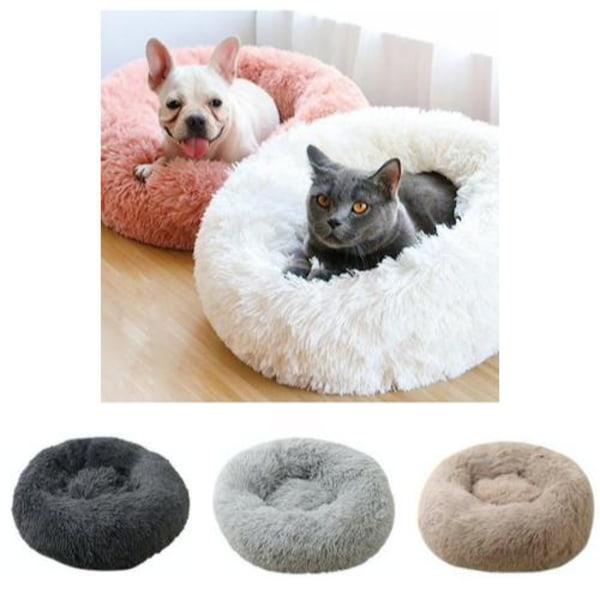 Fluffig Hundbädd / kattbädd, Hundsäng / kattsäng - dogbed/catbed 50cm - Ljusgrå