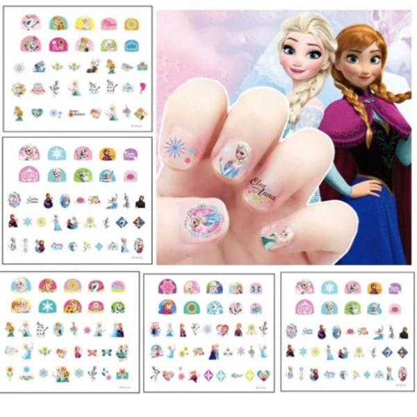Frost frozen Elsa Anna pyssel makeup - Nagel stickes 100st multifärg