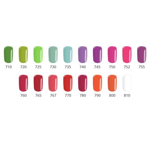 Gellack - Color IT - *200A 8g UV-gel/LED Röd