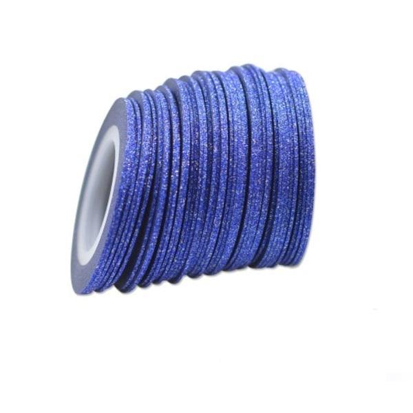 Glittrig striping tape, nageltejp Guld