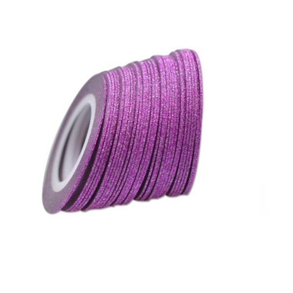 Glittrig striping tape, nageltejp Grön