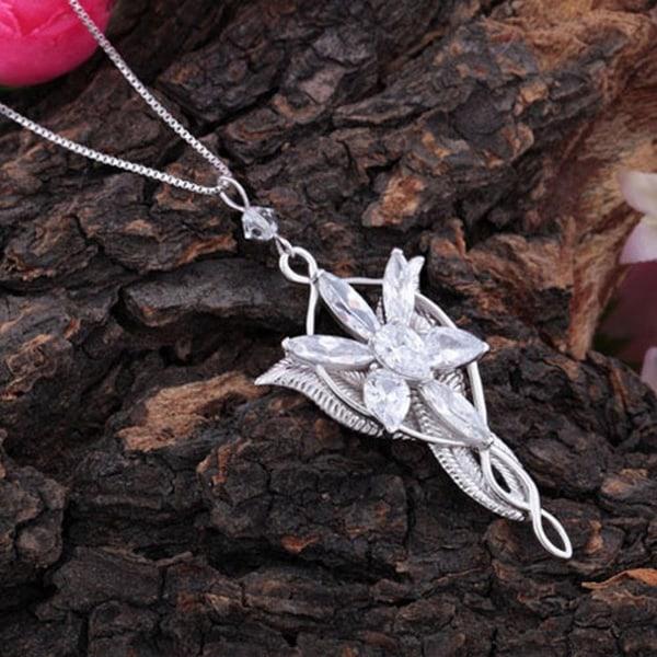 Halsband Arwen Evenstar sagan om ringen silverpläterad