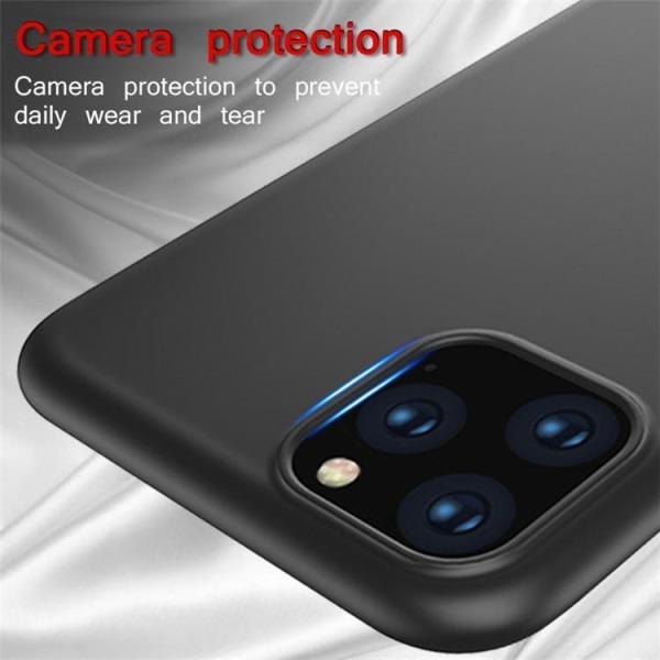 iPhone 12 / 12 Pro 6,1 Inch - Matt Svart Skal Svart