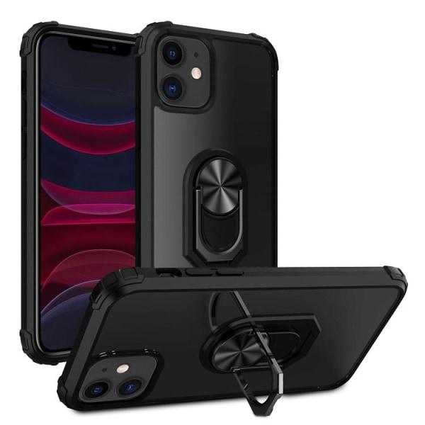 iPhone 12 / 12 Pro Silikon Shockproof Skal - Svart Transparent