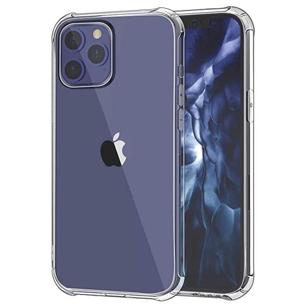 iPhone 12 / 12 Pro Silikon Shockproof Skal extra stöt tåligt Transparent