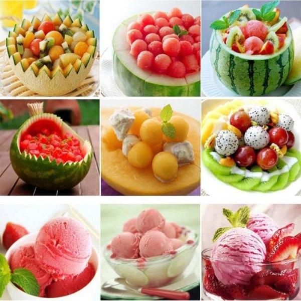 Melonskopa , fruktskopa , glasskopa , melonskärare Svart