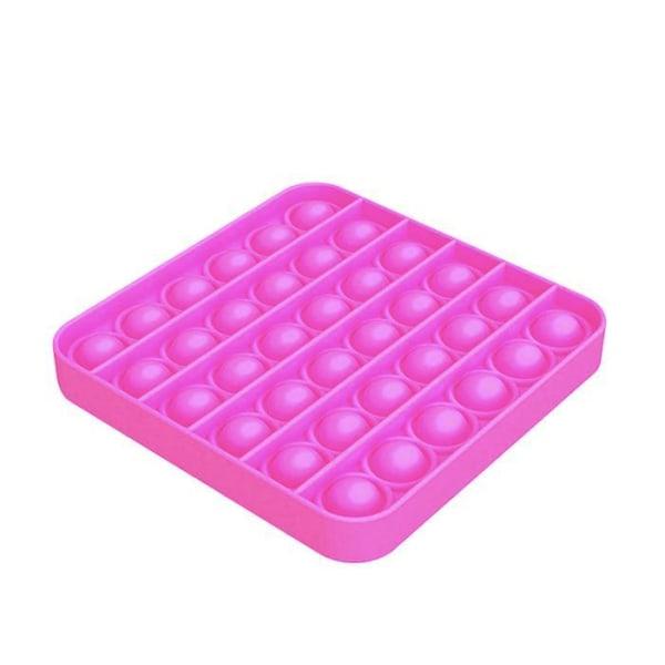 Pop it Fidget Toy Bubble Sensory Fidget Toy / Leksak- CE Pink Fyrkant - Rosa