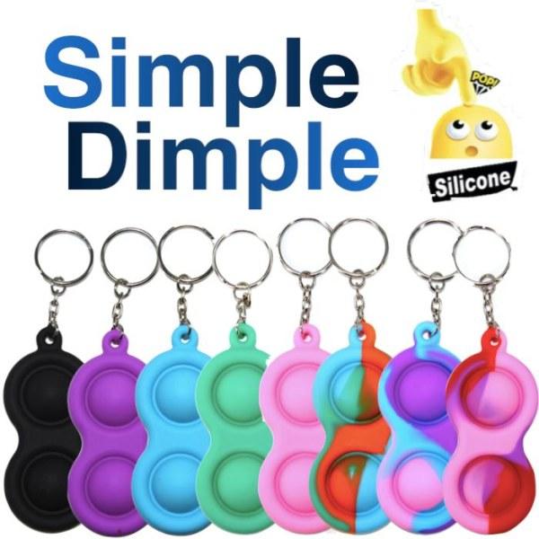 Simple dimple, MINI Pop it Fidget Finger Toy / Leksak- CE Blå - Grön - Orange
