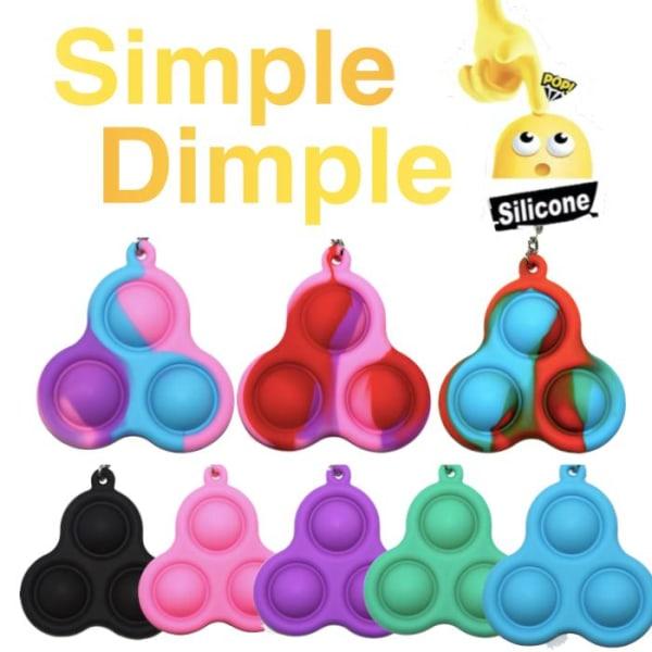 Simple dimple, MINI Pop it Fidget Finger Toy / Leksak- CE Blå - Lila - Rosa